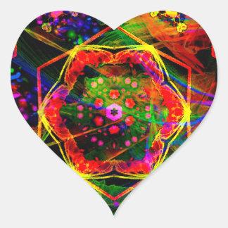 Adesivo Coração ~ brilhante do design do ~ do teste padrão de