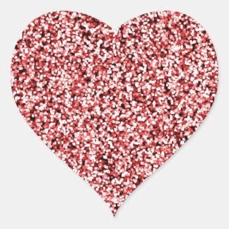 Adesivo Coração Brilho vermelho do falso do rubi