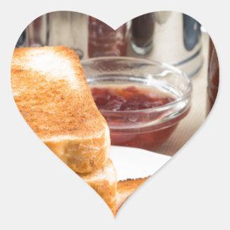 Adesivo Coração Brinde fritado com doce de morango