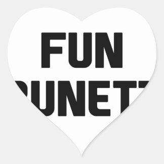 Adesivo Coração Brunette do divertimento