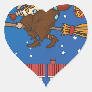 Adesivo Coração bruxa Befana do xmas