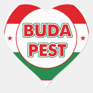 Adesivo Coração Budapest, circle, color