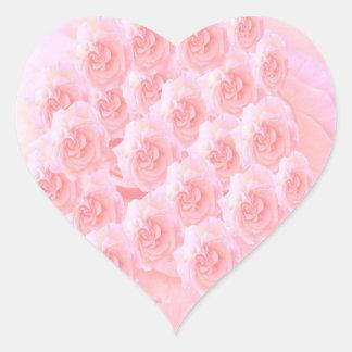 Adesivo Coração Buquê claro da rosa vermelha da máscara