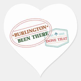 Adesivo Coração Burlington feito lá isso