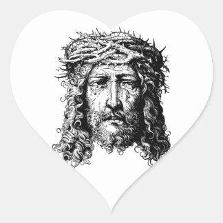 Adesivo Coração Cabeça do Jesus Cristo