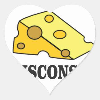 Adesivo Coração Cabeça do queijo de Wisconsin