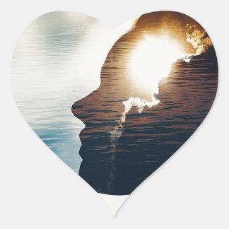 Adesivo Coração Cabeça leve