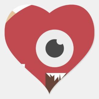 Adesivo Coração Cabeça má do monstro