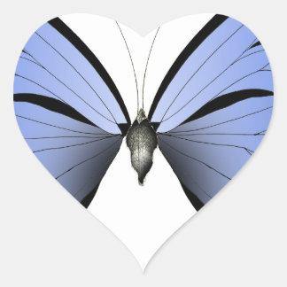 Adesivo Coração Caçador azul do Azure da borboleta 2