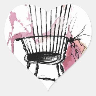 Adesivo Coração Cadeira de Windsor