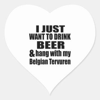 Adesivo Coração Cair com meu Tervuren belga