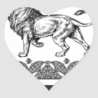 Adesivo Coração caixa do leão do rei