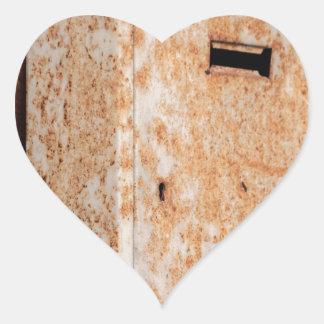 Adesivo Coração Caixa postal oxidada fora