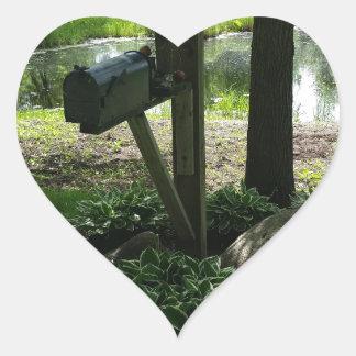 Adesivo Coração Caixa postal pela lagoa