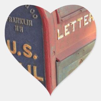 Adesivo Coração Caixa postal velha