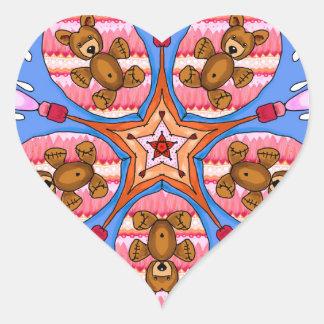 Adesivo Coração Caleidoscópio dos ursos e das abelhas