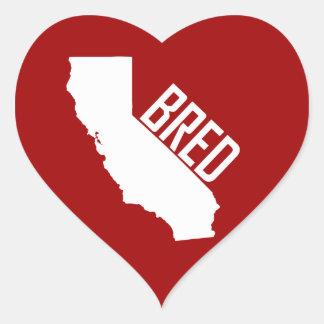 Adesivo Coração Califórnia produziu