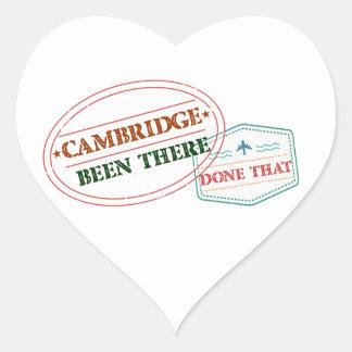 Adesivo Coração Cambridge feito lá isso