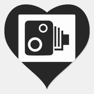 Adesivo Coração Câmera de Sopeed