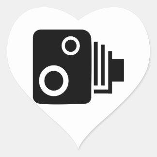 Adesivo Coração Câmera isolada da velocidade