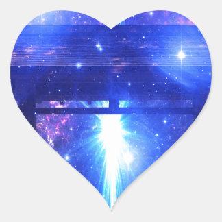 Adesivo Coração Caminho iridescente a em qualquer lugar