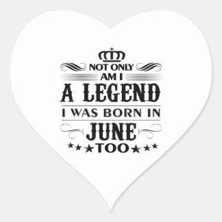 Adesivo Coração Camiseta das legendas do mês de junho