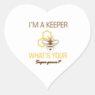 Adesivo Coração Camiseta do depositário da abelha