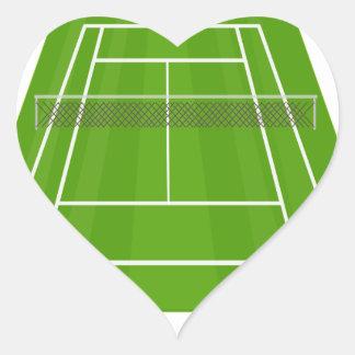 Adesivo Coração Campo de ténis