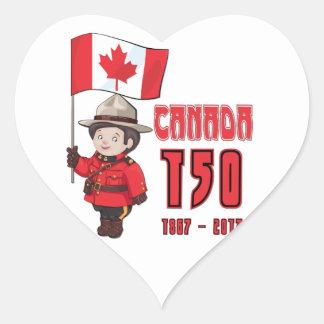 Adesivo Coração Canadá 150 anos de aniversário