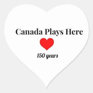 Adesivo Coração Canadá 150 em 2017 Canadá joga aqui