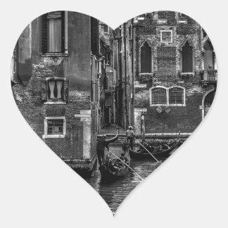 Adesivo Coração Canal do barco da gôndola de Veneza Italia