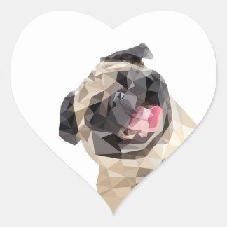 Adesivo Coração Cão bonito dos espanadores