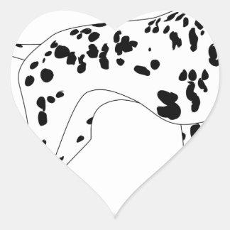 Adesivo Coração Cão de Dalmation