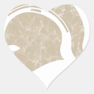 Adesivo Coração capacete