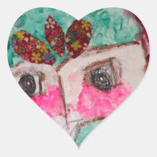 Adesivo Coração Cara do drama dos desenhos animados