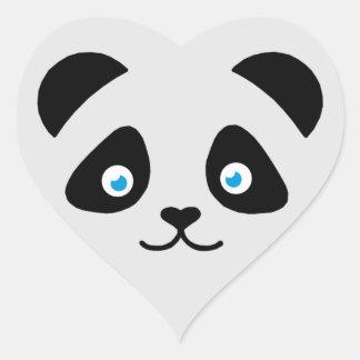 Adesivo Coração cara do urso de panda