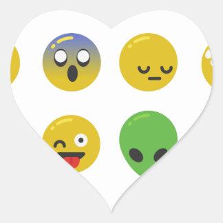 Adesivo Coração Cara feliz de Emoji
