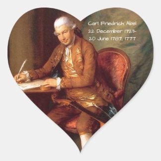 Adesivo Coração Carl Friedrich Abel