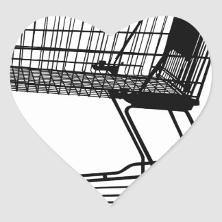 Adesivo Coração Carrinho de compras