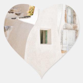 Adesivo Coração Casa em Santorini