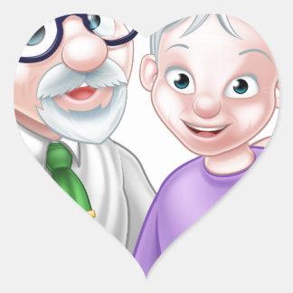 Adesivo Coração Casal superior dos desenhos animados