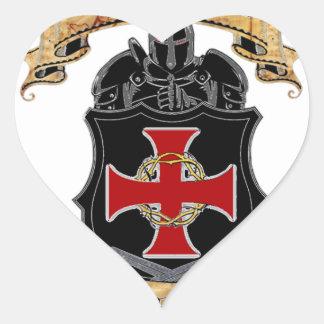 Adesivo Coração Cavaleiros Templar