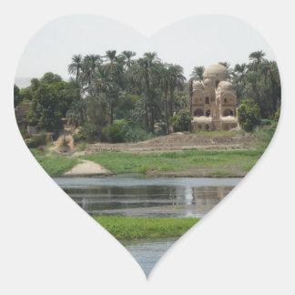 Adesivo Coração Cena de Nile do rio
