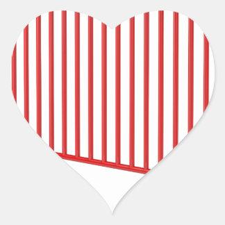 Adesivo Coração Cerca móvel vermelha