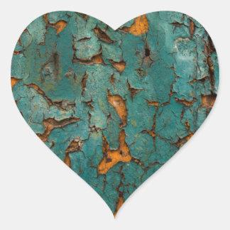 Adesivo Coração Cerceta & pintura amarela da casca