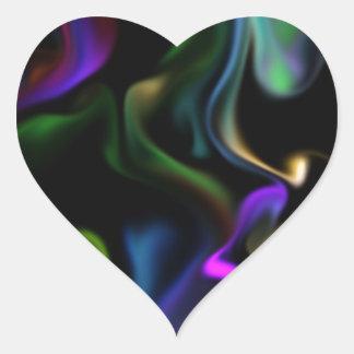 Adesivo Coração Cetim elétrico