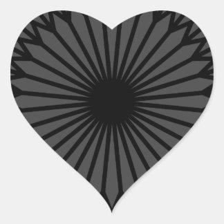 Adesivo Coração Chakra escuro