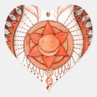 Adesivo Coração Chakra sacral