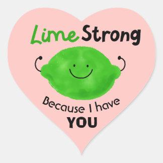 Adesivo Coração Chalaça positiva do limão - limão forte