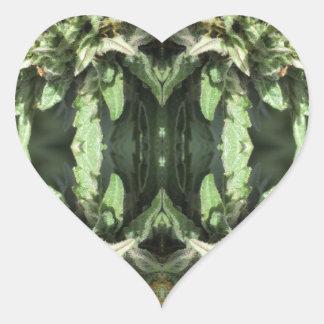 Adesivo Coração Chamas 1 do cristal